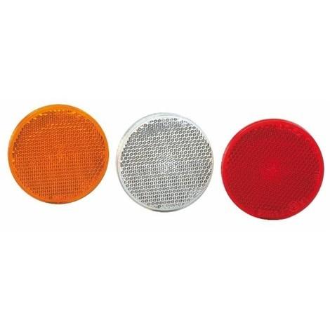 Catadioptre ø 60 orange avec vis et écrou M5 (Lot de 4 )
