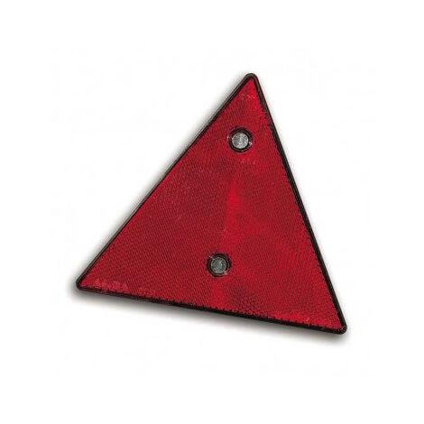 Catadioptre triangulaire rouge à visser