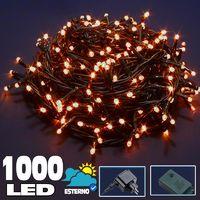 Catena Luminosa 1000 LED Luci Albero Natale Lucciole Bianco Caldo Esterno 24V
