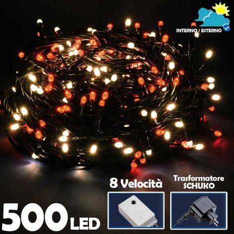 CATENA LUMINOSA LAMPADINA G50 20 BULBI BIANCO FREDDO LUCI DECORATIVE DECORAZIONE