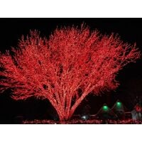 Catena luminosa di natale 120 maxi led flash rosso mt.10,50 prolungabile 30pz - Gtr