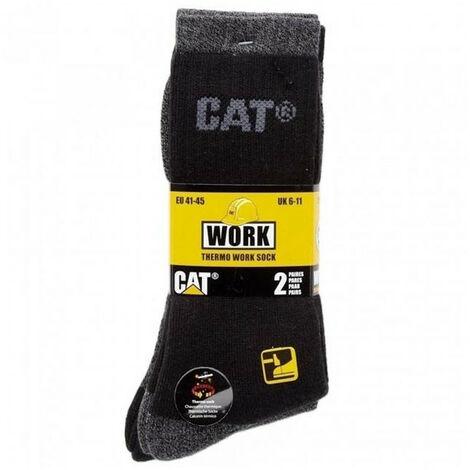 CATERPILLAR 2 paires de chaussettes hiver noir/gris - C723 THERMO