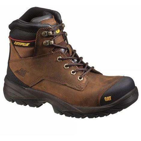 e62bf25fd52696 CATERPILLAR Chaussures de sécurité SPIRO BTP S3 (40 - marron ...