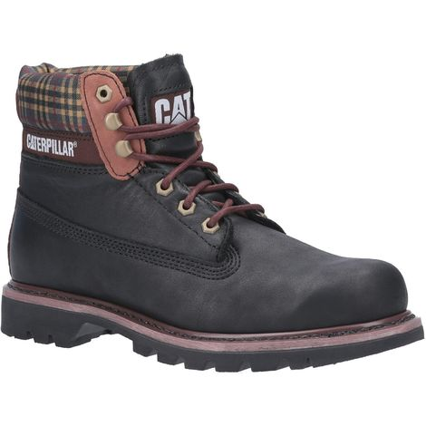 Caterpillar Mens Colorado Plaid Lace Up Leather Boot