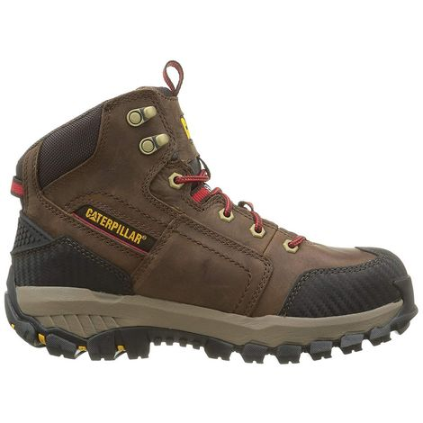 Caterpillar Mens Leather Navigator Mid S3 Safety Boot