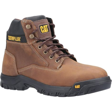 Caterpillar Mens Median S3 Lace Up Leather Safety Boot