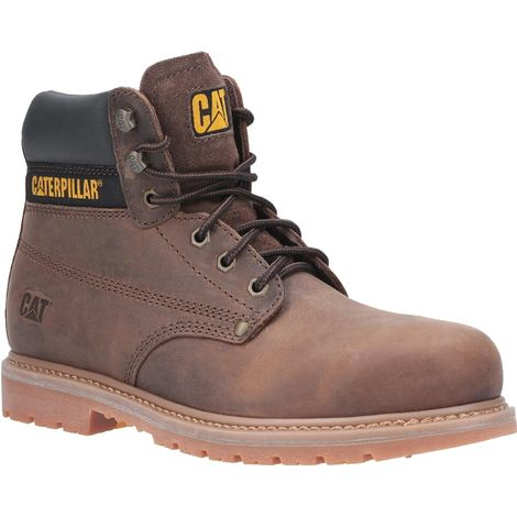 Caterpillar Mens Powerplant GYW Leather Safety Boot