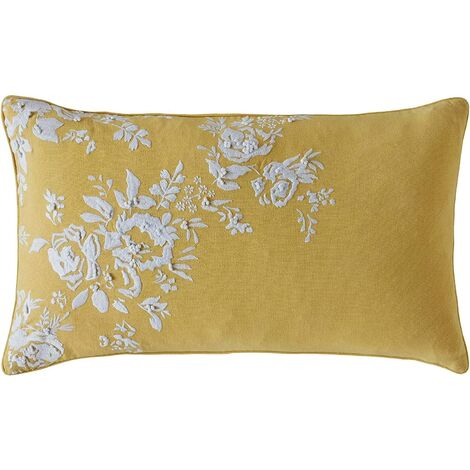 Cath Kidston Vintage Bunch Yellow Polyester Filled Cushion 30cm x 50cm