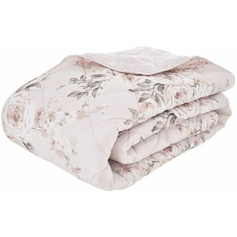 Catherine Lansfield Canterbury Easy Care Bedspread Blush 220x230cm