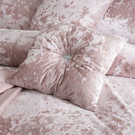 Catherine Lansfield Crushed Velvet 45 x 45 cm Filled Cushion Blush
