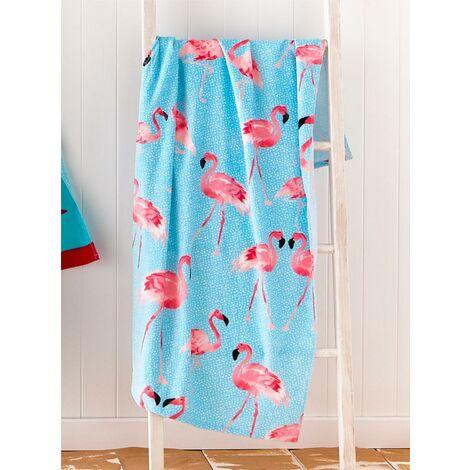 Catherine Lansfield Flamingo Beach Towel Multi