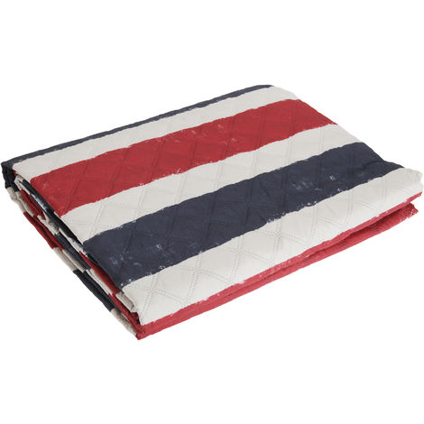 Catherine Lansfield Home UK/USA Reversible Flag Bed Throw (220 x 230cm) (Blue/Red/White)