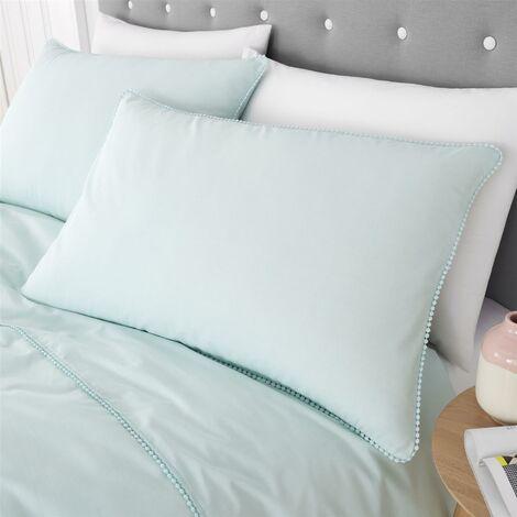 Catherine Lansfield Pom Pom Filled Cushion - Mint - 30x50cm