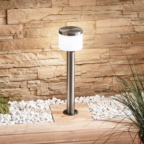 Cathleen LED pillar lamp, stainless steel