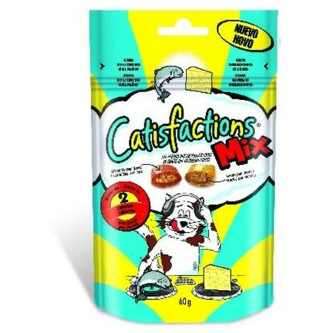 CATISFACTIONS MIX SALMON Y QUESO 60GR