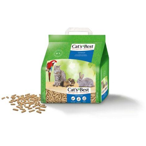 Cats Best Universal Lecho ecológico biodegradable para conejos, gatos y pequeños roedores - 10 L