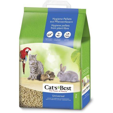 Cats Best Universal Lecho ecológico biodegradable para conejos, gatos y pequeños roedores - 40 L