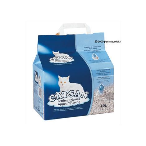 Catsan hygienische Katzenstreu aus Kalkstein und feinem Quarzsand
