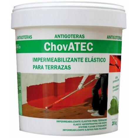 Caucho Impermeabilizante Liquido Terrazas 20 Kg Chova Chovatec 20 Kg Rojo 75244