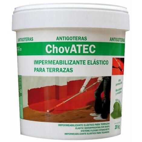 Caucho Impermeabilizante Liquido Terrazas 5 Kg Chova Chovatec 5 Kg Blanco 75252
