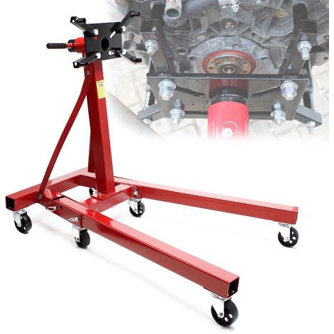 """main image of """"Cavalletto motore Supporto trasmissione Sollevatore del motore fino a 900kg Piattaforma elevatrice"""""""