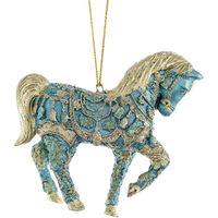 Cavallo bluehaze pendente di Natale 11 cm decorato a mano per decorazione albero di Natale
