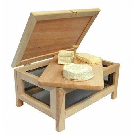 Cave à fromage avec plateau de service en bois - Livraison gratuite
