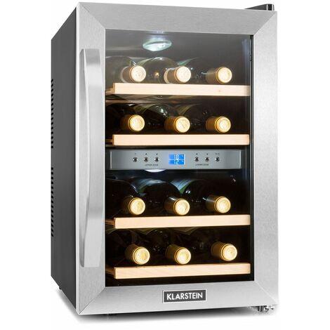 Cave à vin réfrigérée 34L 12 bouteilles éclairage LED classe B