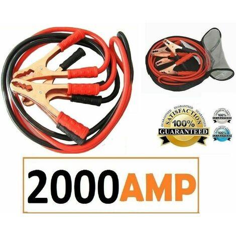 """main image of """"CAVI AVVIAMENTO BATTERIA PER AUTO CAMPER MOTO 2000 AMP COLLEGAMENTO EMERGENZA"""""""