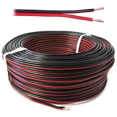 Piattina polarizzata sezione 2 x 0,35mm rosso nero cavo audio casse 2 metri