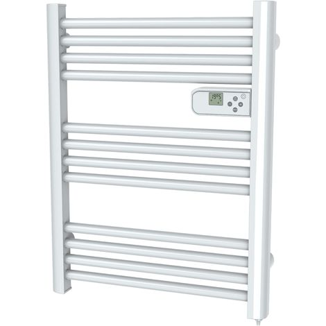 "main image of ""Cayenne radiateur sÞche-serviette 500W mini tubes ronds blanc LCD - Blanc"""