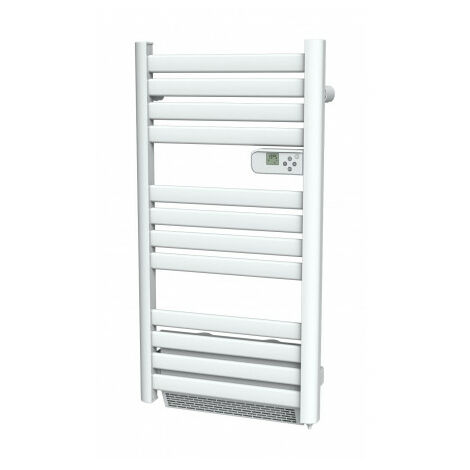 "main image of ""Cayenne radiateur sÞche-serviette 500W + soufflerie 1000W (1500W) lames plates blanc LCD - Blanc"""