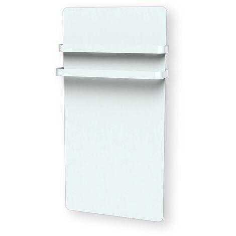 Cayenne radiateur sèche-serviette 1000W verre blanc LCD - Blanc