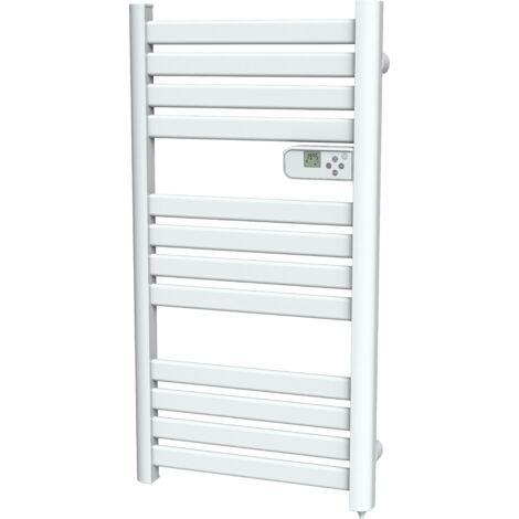Cayenne radiateur sèche-serviette 500W lames plates blanc LCD