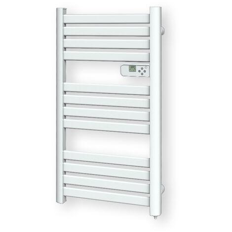 Cayenne radiateur sèche-serviette 500W lames plates blanc LCD - Blanc