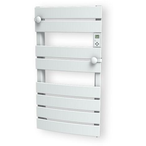 Cayenne radiateur sèche-serviette 600W lames plates blanc LCD