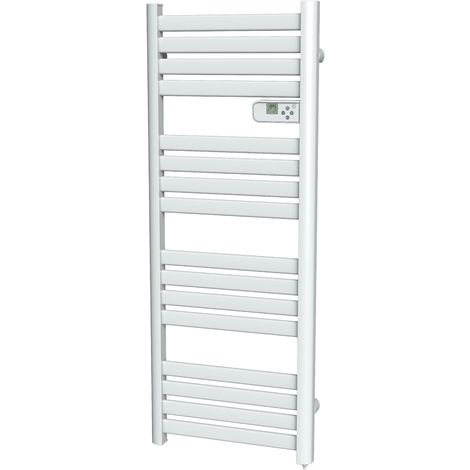 Cayenne radiateur sèche-serviette 700W lames plates blanc LCD - Blanc
