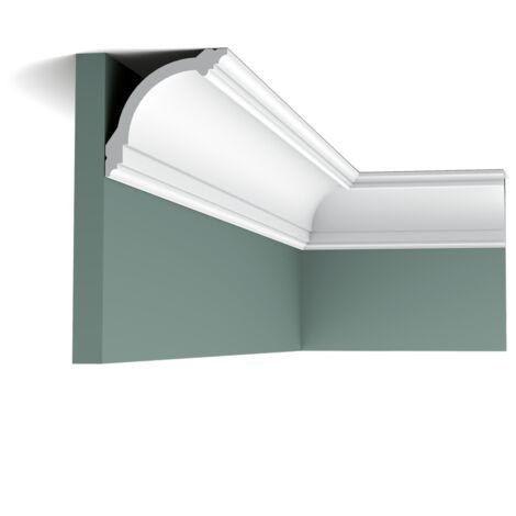 CB512 Pack de 4m Corniches plafond Orac Decor - 10x10x200cm (h x p x L) - polystyrène - Conditionnement : Pack 2 pièces
