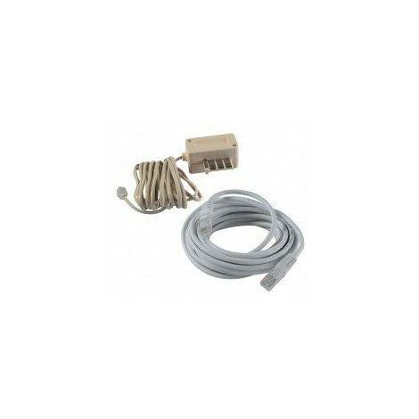 C,ble téléphone 3m cables telephone / reseau étiquette cavalier c,ble téléphone 3mfiche rj11 + prise en t