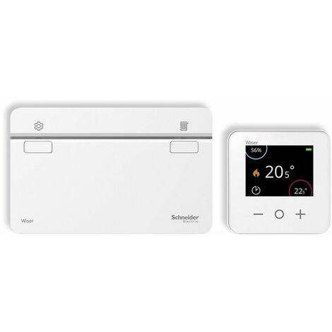 CCTFR6901 Kit termostato Wiser Heat + Heat Hub de Schneider