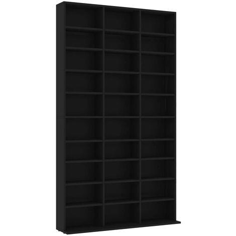 CD Cabinet Black 102x16x177.5 cm Chipboard