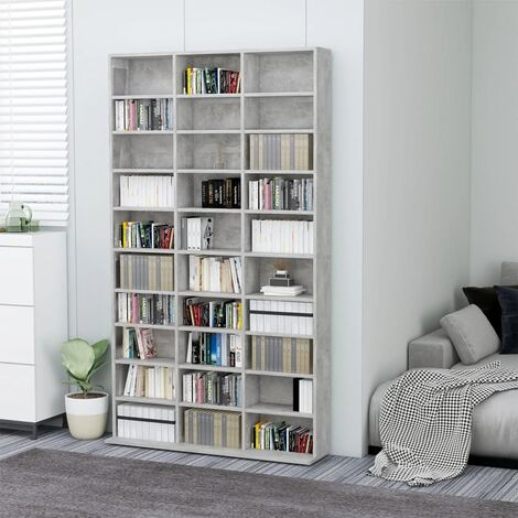 CD Cabinet Concrete Grey 102x16x177.5 cm Chipboard