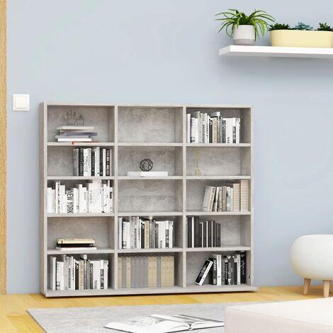 CD Cabinet Concrete Grey 102x23x89.5 cm Chipboard - Grey