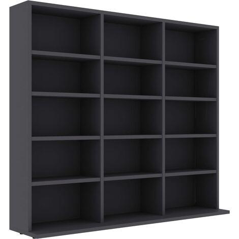 CD Cabinet Grey 102x16x89.5 cm Chipboard