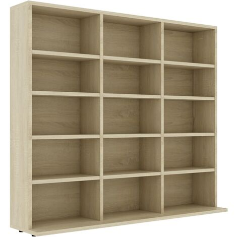 CD Cabinet Sonoma Oak 102x16x89.5 cm Chipboard