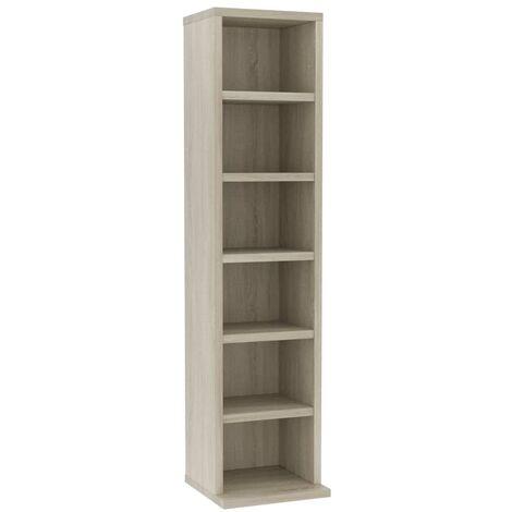 CD Cabinet Sonoma Oak 21x16x88 cm Chipboard