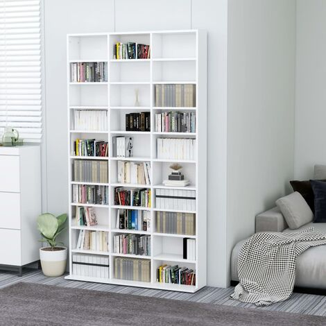 CD Cabinet White 102x16x177.5 cm Chipboard