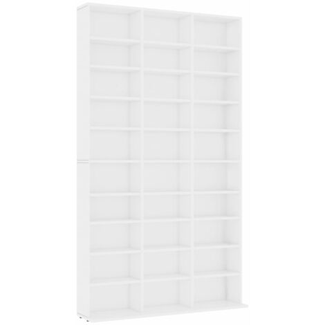 CD Cabinet White 102x16x177.5 cm Chipboard