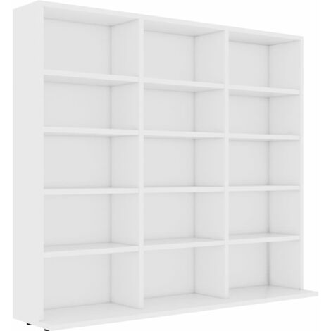 CD Cabinet White 102x16x89.5 cm Chipboard