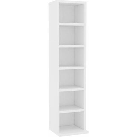 CD Cabinet White 21x20x88 cm Chipboard